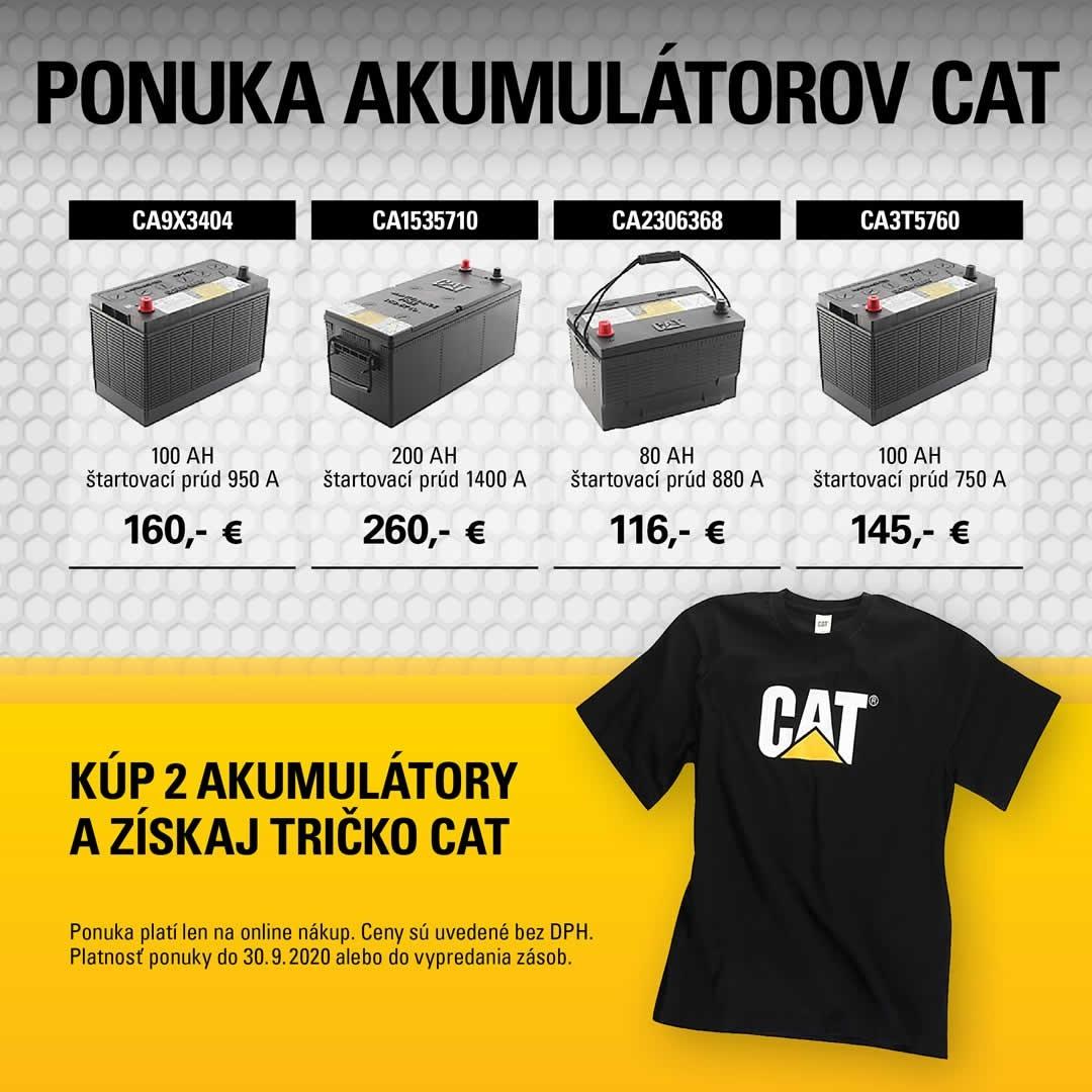 Kúp 2 akumulátory a získaj tričko Cat