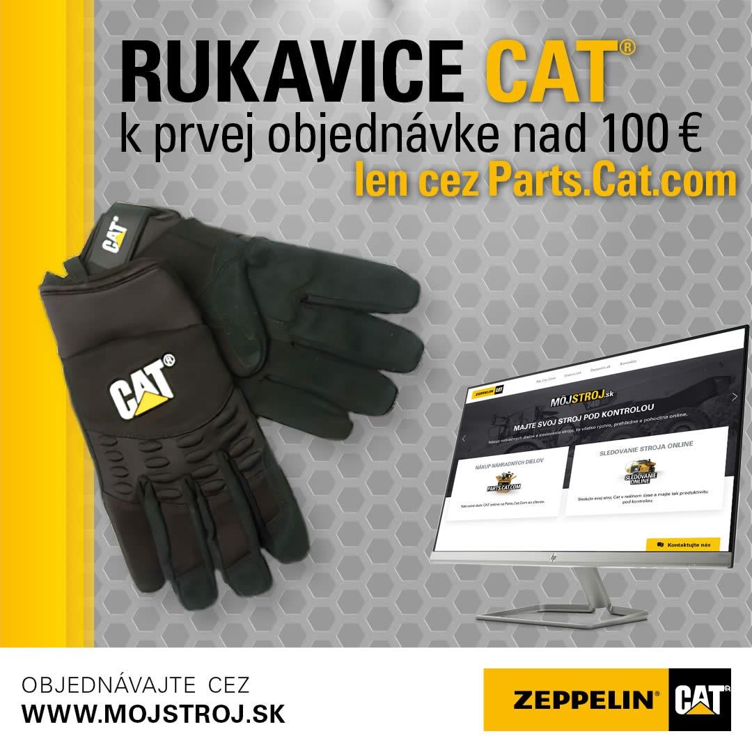 Rukavice Cat k prvej objednávke na 100€ cez Parts.Cat.com
