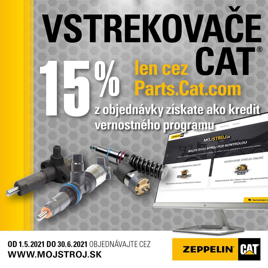 Pri kúpe vstrekovačov Cat cez Parts.Cat.com získate teraz 15% z objednávky ako kredit do vernostného programu