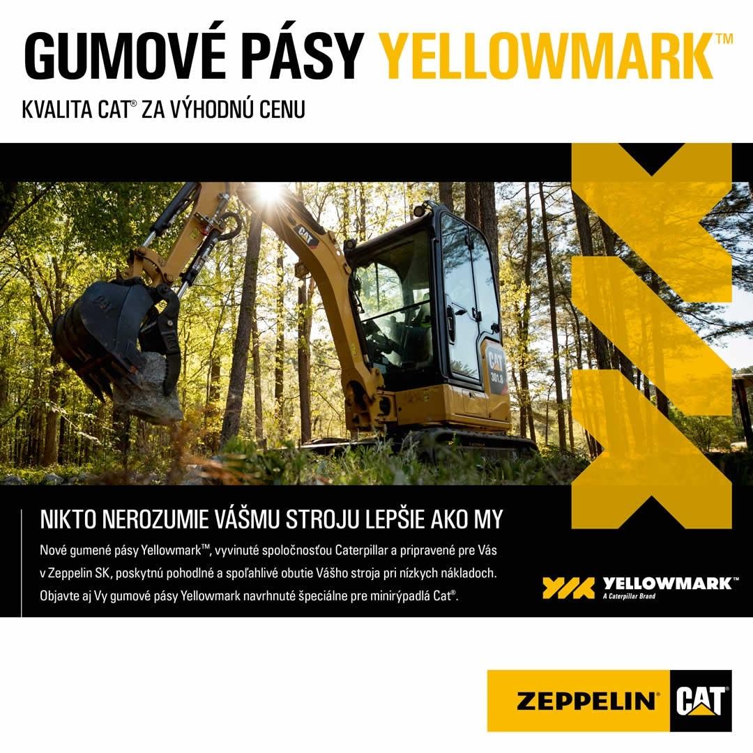 Originálne gumové pásy Cat YELLOWMARK za výhodné ceny