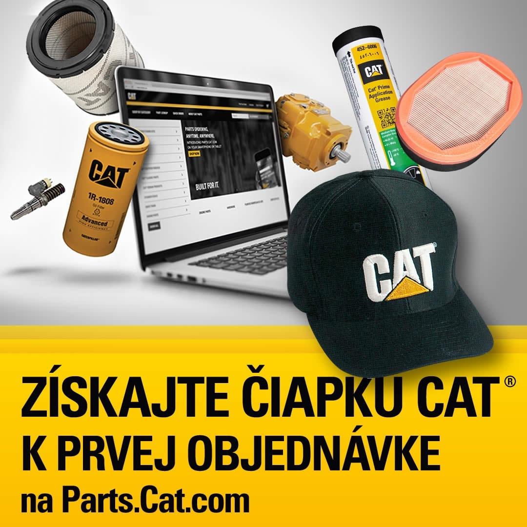 Získajte origimálnu čiapku Cat k prvej objednávke na Parts.Cat.com