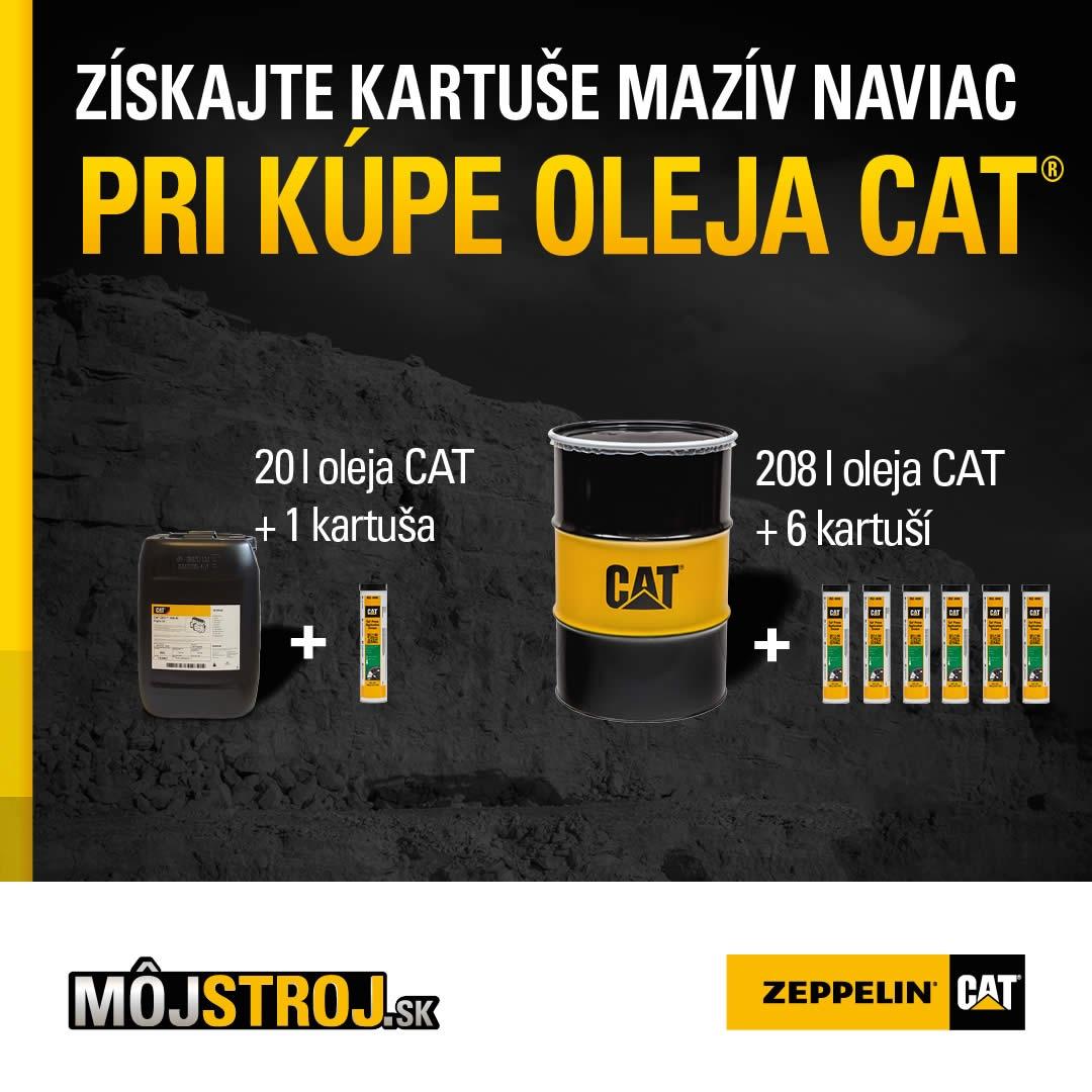 Získajte kartuše maziva naviac pri kúpe oleja Cat®