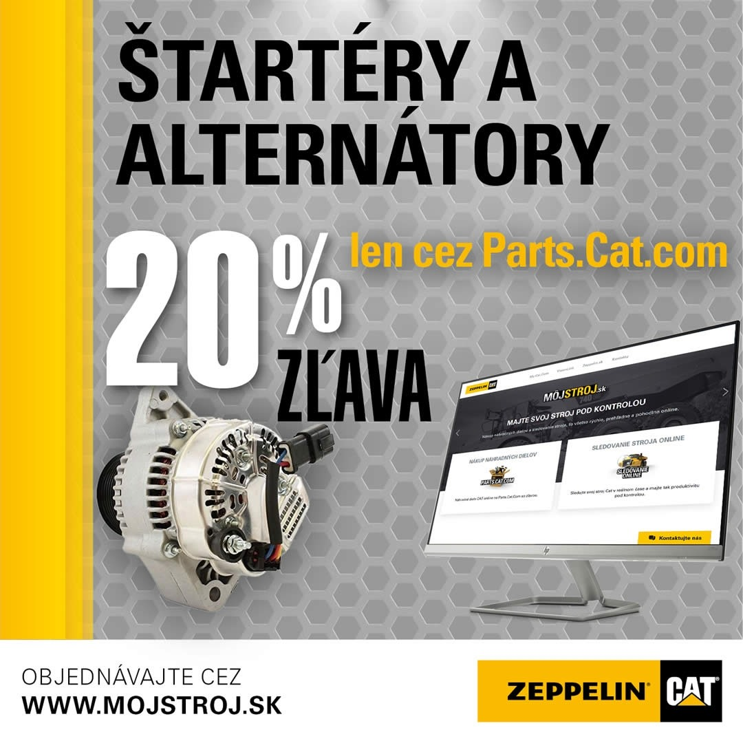 Limitovaná akcia 20% na štartéry a alternátory len cez Parts.Cat.com
