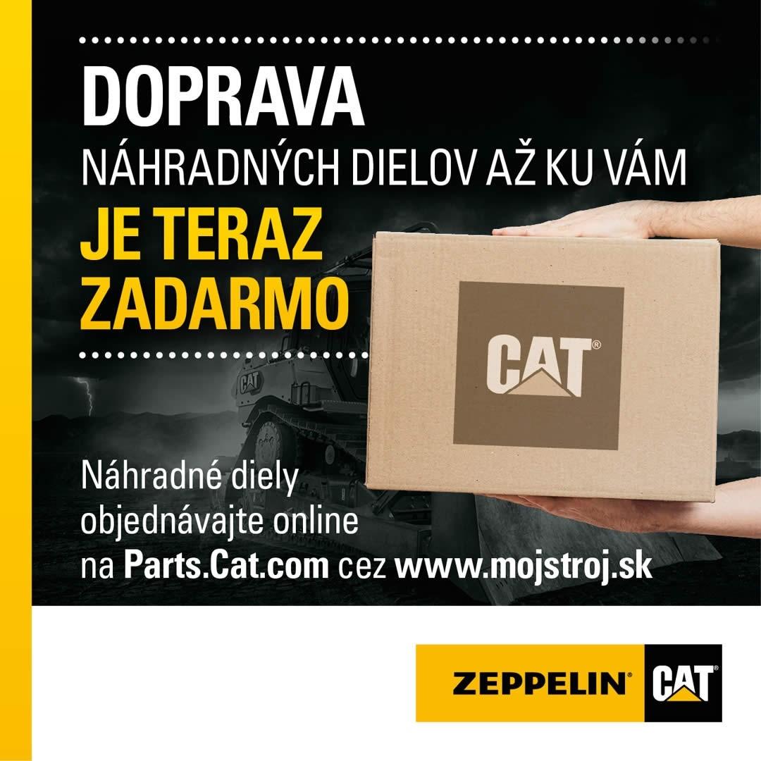 Doprava náhradných dielov zadarmo k objednávke na Parts.Cat.com