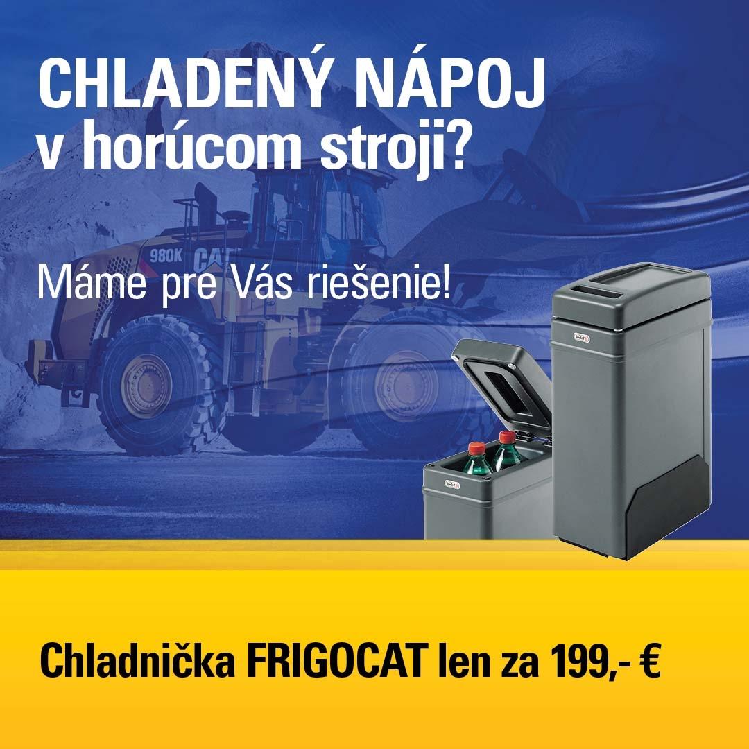 Chladničky do stavebných strojov Cat v novej cene - to pravé letné osvieženie.