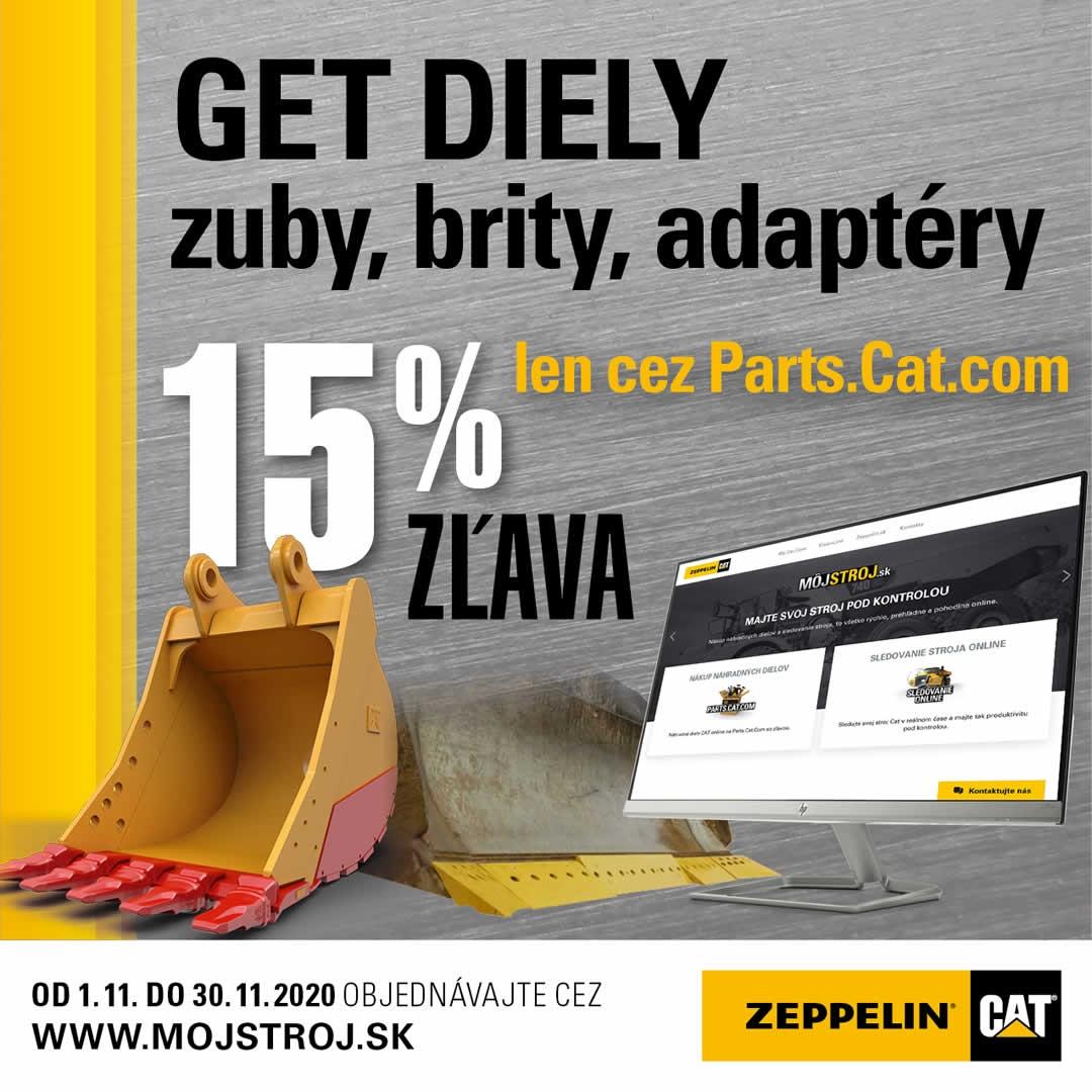 Limitovaná akcia 15% na get diely len cez Parts.Cat.com