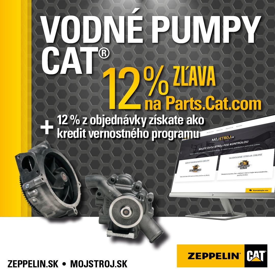 Vodné pumpy Cat získate teraz s 12% zľavou cez Parts.Cat.com a navyše dostanete aj 12% kredit do vernostného programu.